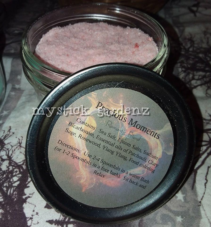 100%All Natural Homemade Bath Crystals 1/2pint jar Spoon Included PreciousMoment