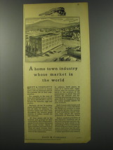 1930 Swift & Company Ad - A home town industry whose market is the world - $14.99