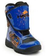 Tony Hawk Toddler Boys Winter Snow Boots Blue Thermolite Waterproof Leat... - $39.99