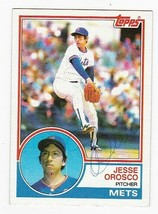 Jesse Orosco Autographed Card 1983 Topps New York Mets - $4.98