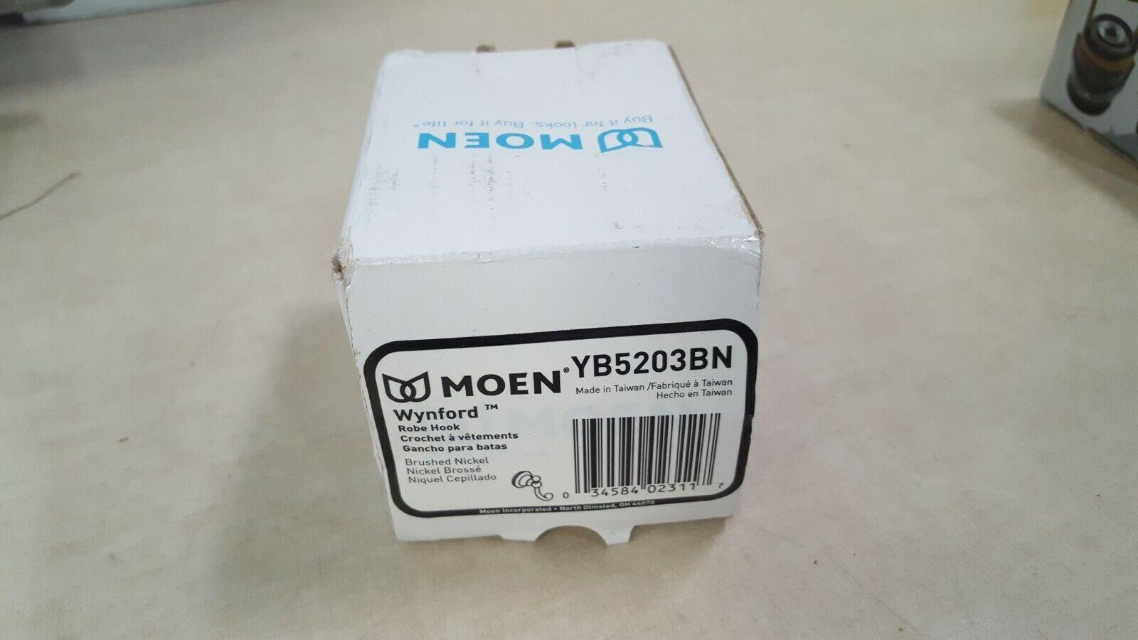 Moen YB5203BN Wynford Single Robe Hook - Brushed Nickel