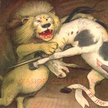 Lion and Unicorn Go At It Original Peter Newell... - $32.90