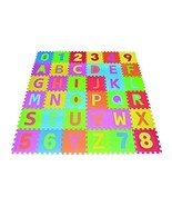 Poco Divo 36 Tiles EVA Foam Rainbow Letters and Numbers Puzzle Play Mat - $49.99