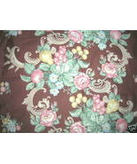 Vintage 30s Barkcloth Era Fabric Drape Fruit Flowers - $95.00