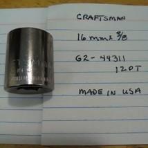 """Craftsman  16 mm x 3/8"""" Dr Socket 12 Pt G2 44311  Made in USA - $13.09 CAD"""