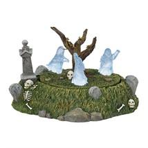 Dept 56 Halloween Village Animated Lighted GRAVEYARD GHOST DANCE #6001737 - £68.35 GBP