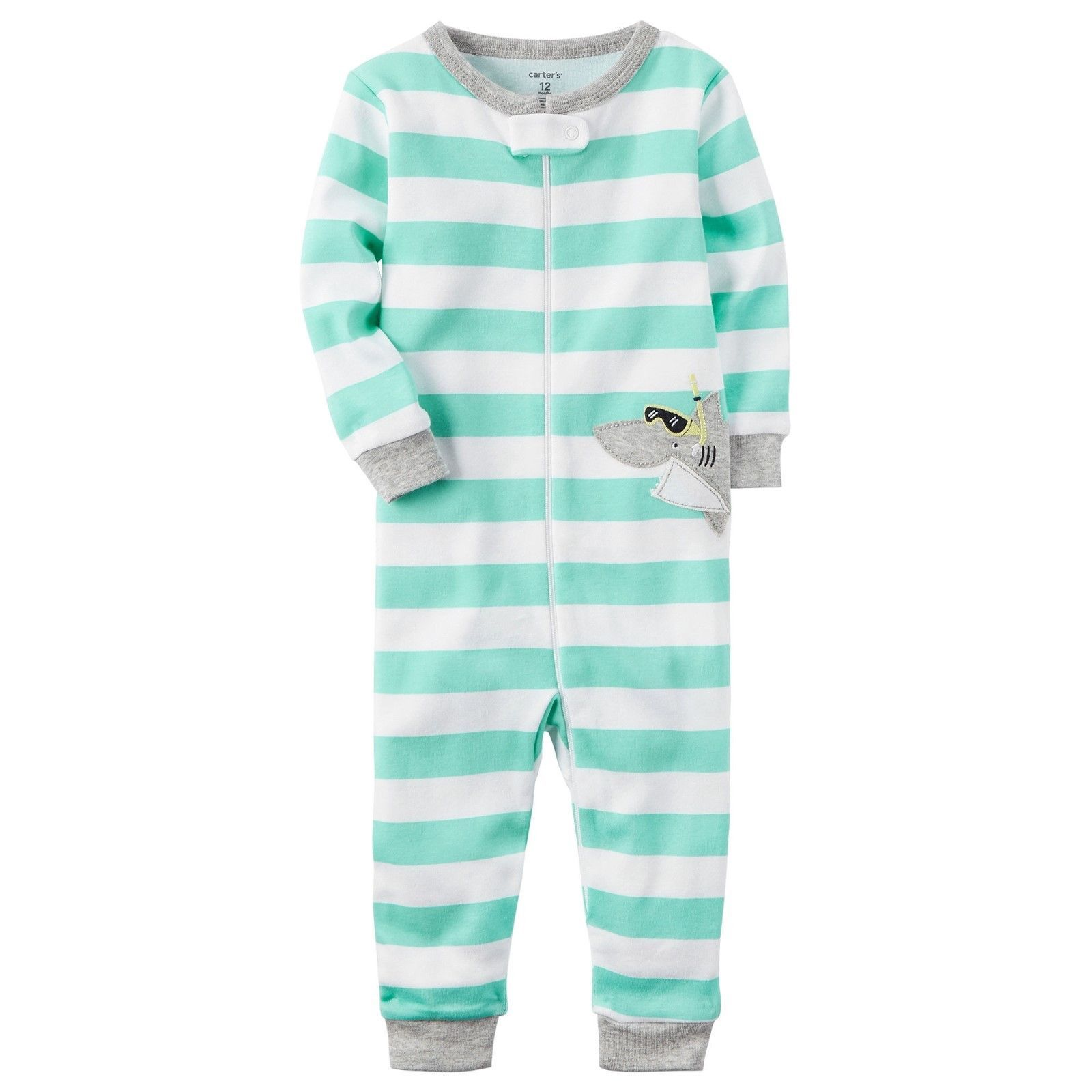 2530ba541a13 NWT Carters Baby Boy Footless PJ Coveralls and 17 similar items