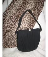 Handbag Black Wool 1940s VTG Mid-Century Rhine... - $34.82