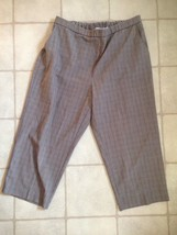 Sag Harbor Womens Pants Size 18W Gray Solid Stretch Elastic Waist Casual... - $12.99