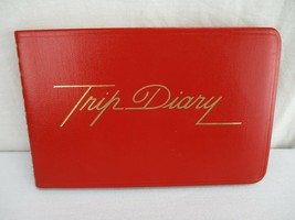 """Trip Diary Spiral Bound Red Cover 1981 4"""" x 6"""" - $16.14"""