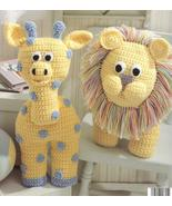 Giraffe~Mouse~Elephant~Bunny~Lion~Animal Crochet Pattern~OOP - $19.99