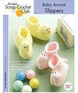 ANNIE'S BABY ANIMAL SLIPPERS~BOOTIES CROCHET PA... - £3.85 GBP