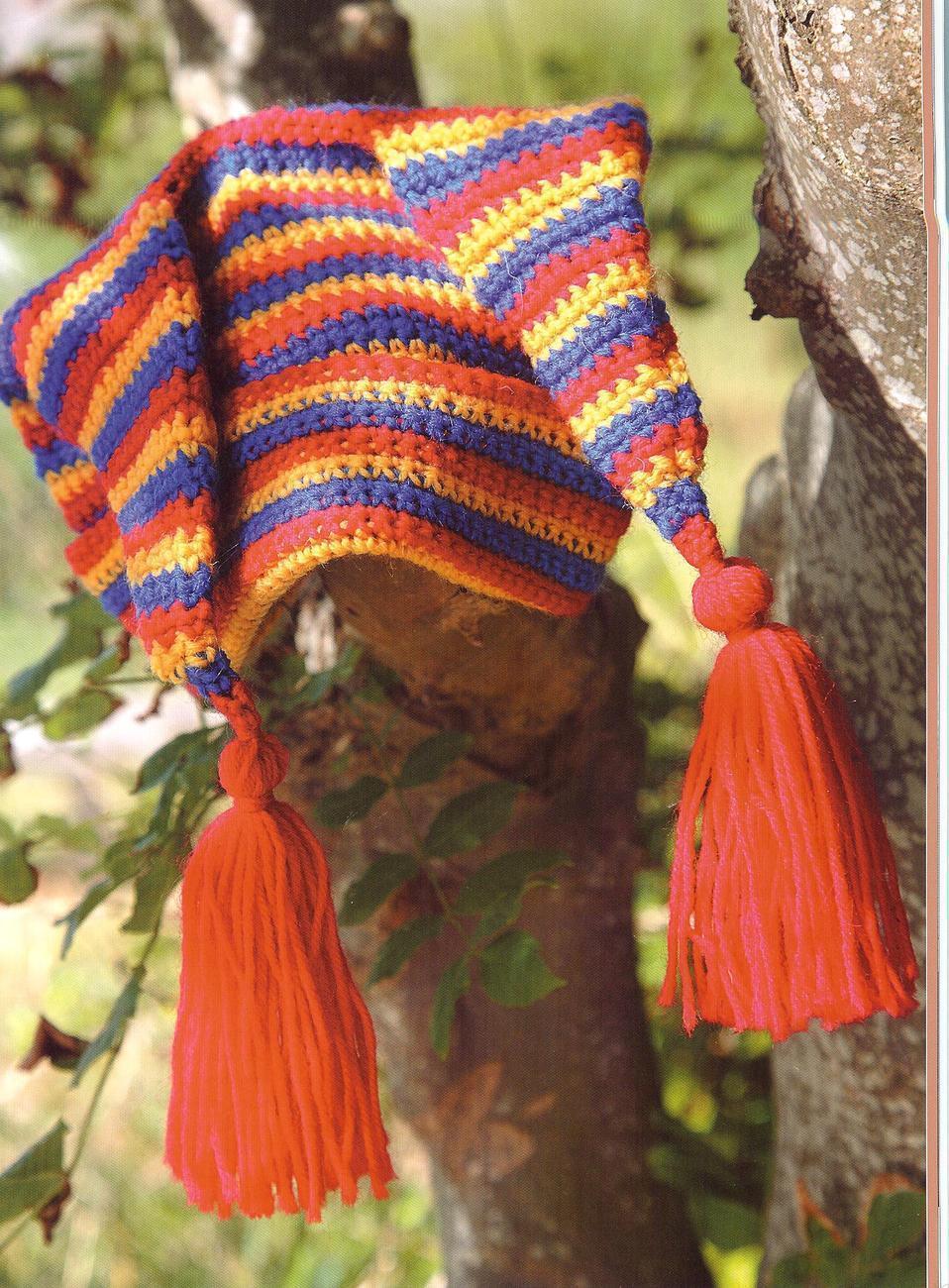 Free Crochet Joker Hat Pattern : JESTER HAT & BOOTS CROCHET PATTERNS~RARE - Baby & Children