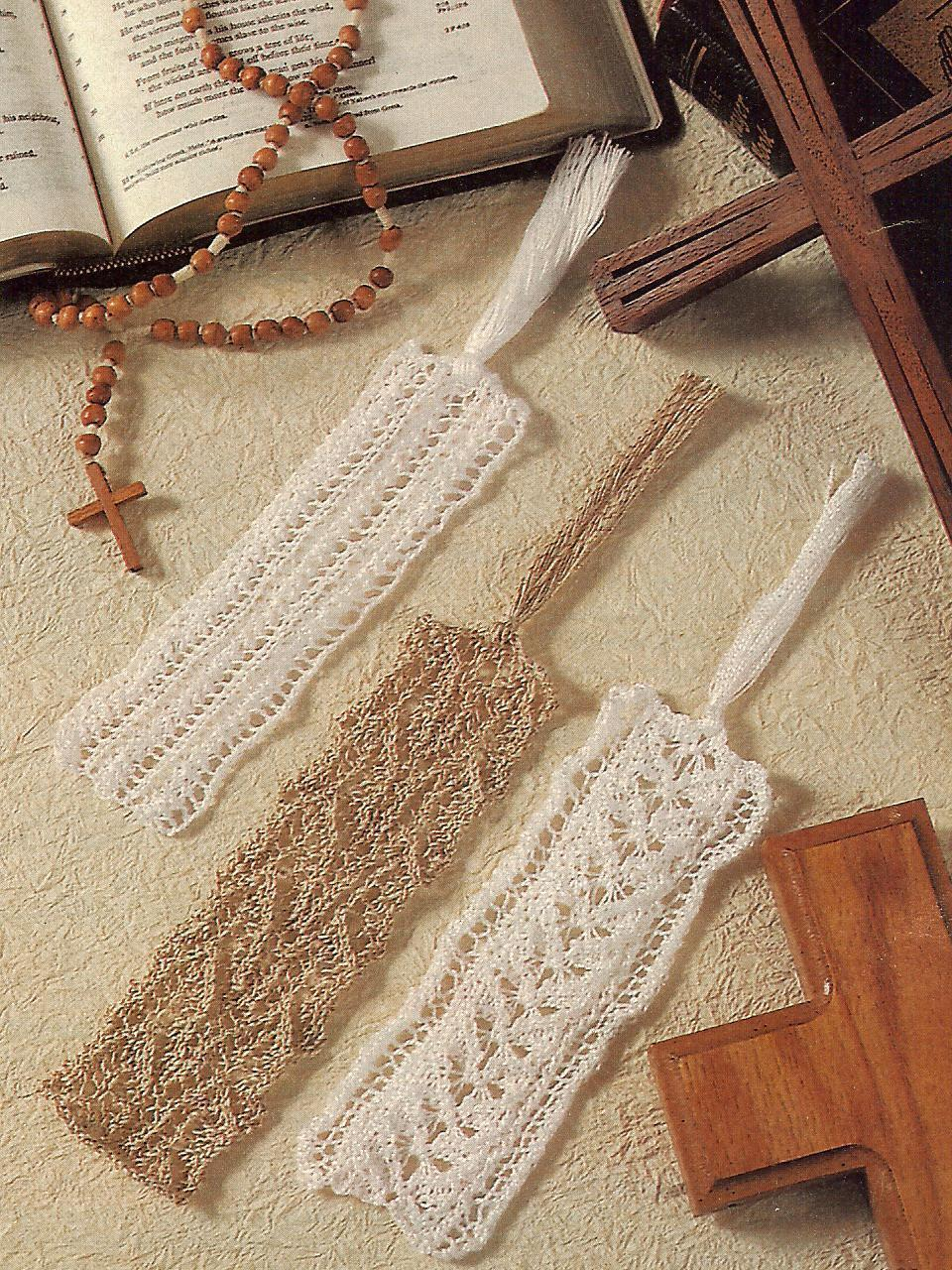 Primary image for 3 BEAUTIFUL~LACY BOOKMARKS~KNITTING PATTERN