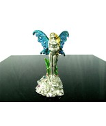 1993 Pewter Nude Fairy MWFP HOLDING GLASS BALL Beautiful! - $24.70