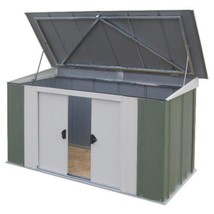"Garden Storage Shed Metal Patio Tool Barbecue Outdoor Furniture 6x3"" Gre... - $400.45"