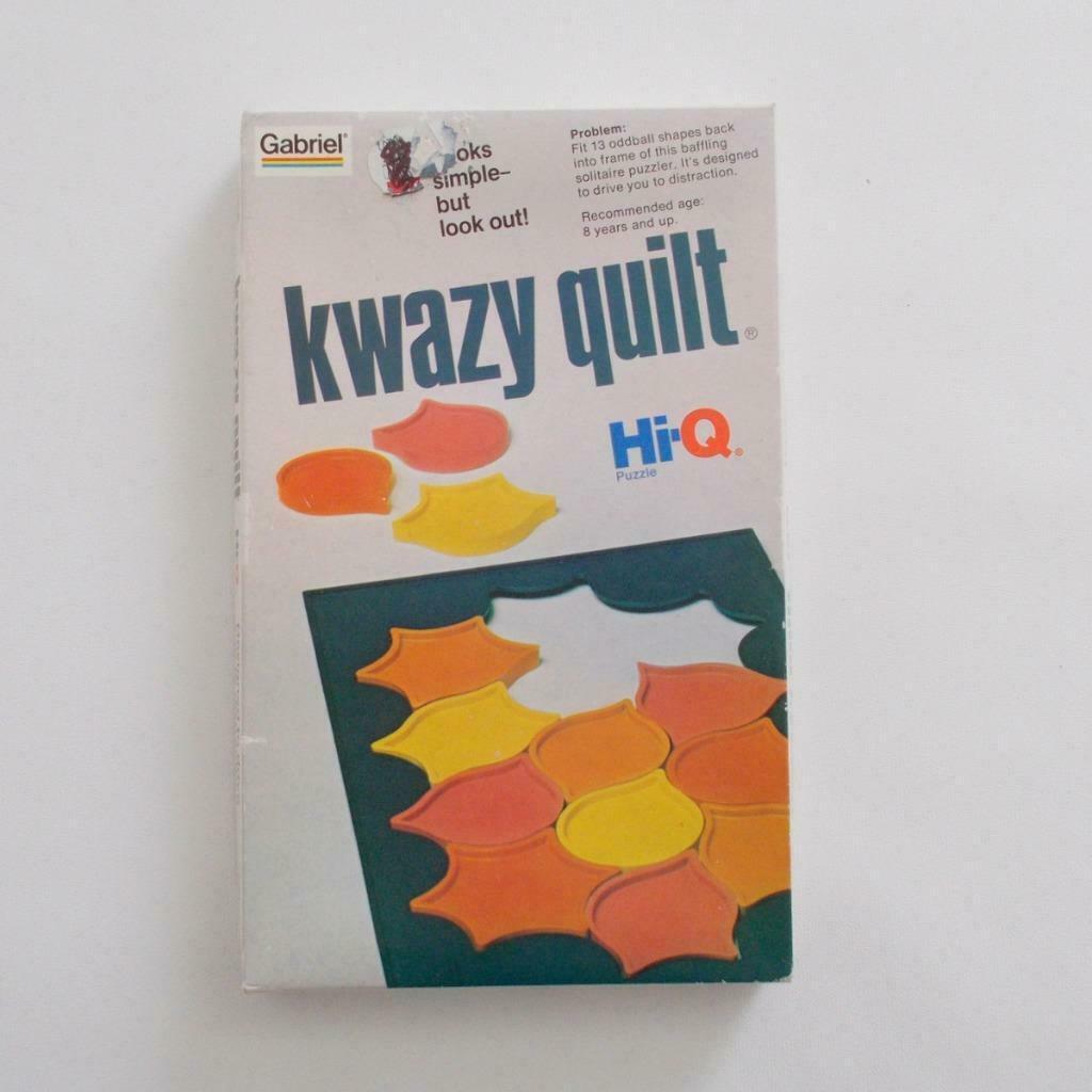 Gabriel Kwazy Quilt Game Vintage Sealed Hi Q Puzzle
