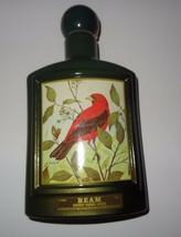 Vintage Empty  JIM BEAM Bourbon Whiskey Bottle J. Lockhart Scarlet Tanager - $21.04