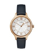 Timex Women's TW2R82300 Peyton Blue/rose Gold-tone Leather Strap Watch - $55.64