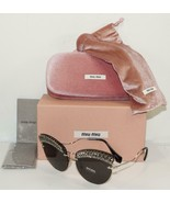MIU MIU SCENIQUE EVOLUTION SILVER CRYSTAL SUNGLASSES SMU 58T - ITALY-NEW... - $261.79