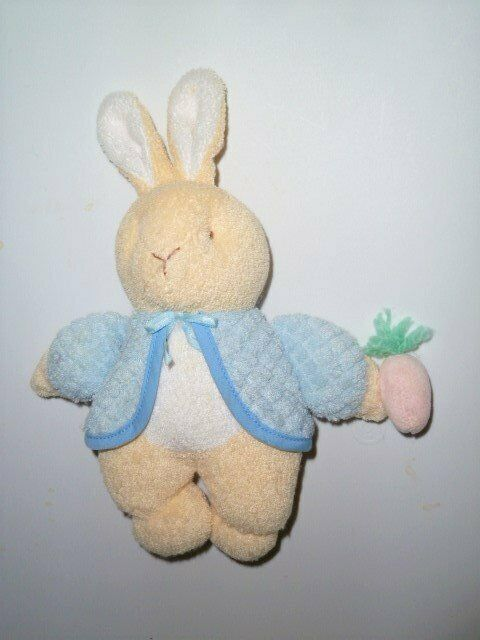 Primary image for EDEN PETER RABBIT TERRY THERMAL BUNNY PLUSH FIGURE RATTLE BEATRIX POTTER #2