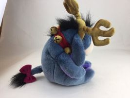 "Disney Store Exclusive Winnie Pooh Eeyore Donkey 13"" Christmas Reindeer Plush image 5"