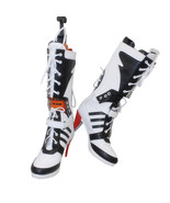Hot Batman DC Comic Suicide Squad Harley Quinn Cosplay Shoes Boot - $80.35