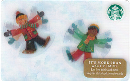 Starbucks 2016 Making Snow Angels Collectible Gift Card New No Value - $4.99