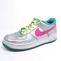 Nike Air Force 1 Womens Size 7 Youth Sz 6 Metallic Silver Hyper Pink 314219-011 - $27.51