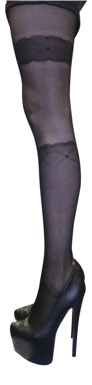 Sock Snob Opaque Knee High Sock Design Tights One size 8-14 uk, 36-42 eur Black
