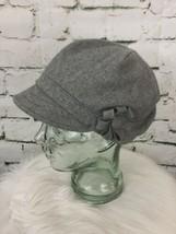 Grey Newsboy Cap Hat Flower Embellished By Grace Hats - $14.84