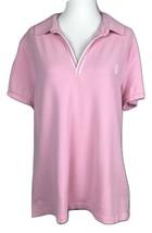 Ralph Lauren LRL Active Polo Shirt Short Sleeve Women's XL Pink w Logo - $19.26