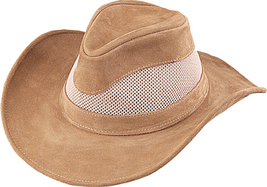 Henschel Cowhide Suede Seadream Cowboy Hat Mesh UPF 50+ Made In USA Brow... - $74.00