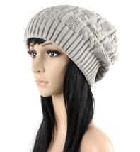 Caps Warm Autumn Winter Knitted Hats Stripes Double-deck Beanies 3 Colors xks - $9.99