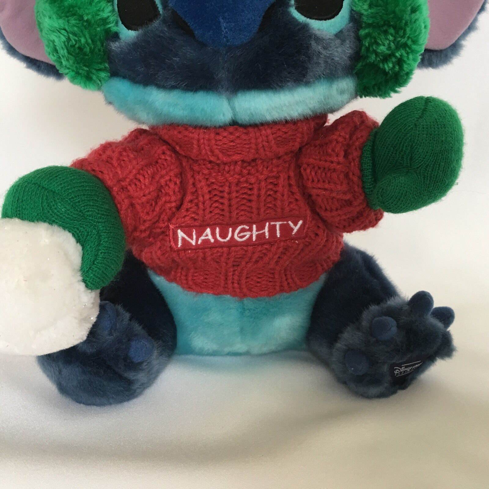 Disney Stitch From Lilo and Stitch Plush Blue Naughty Christmas Stuffed Animal image 4