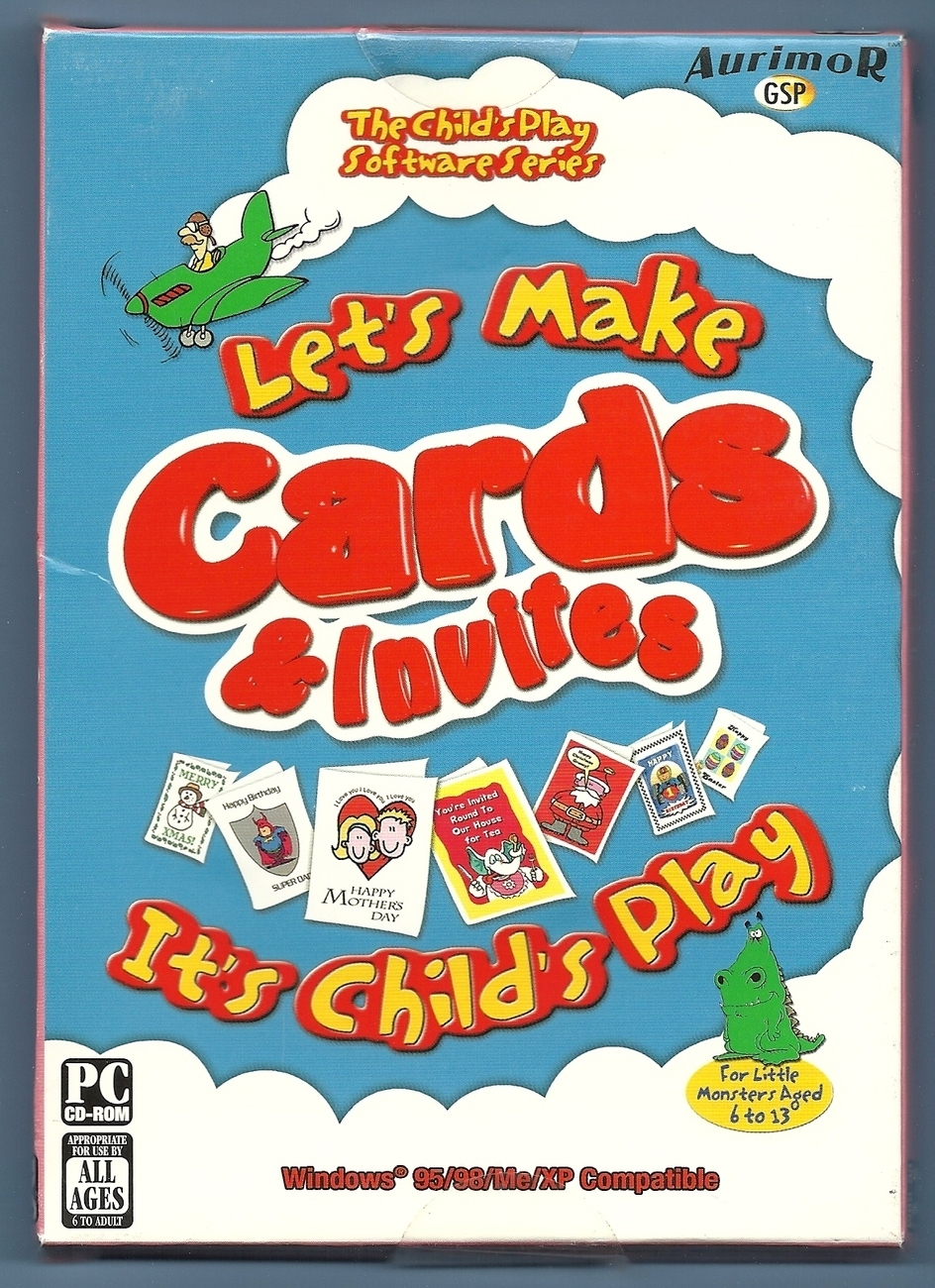 Let's Make Cards and Invites Child's Play PC Software New