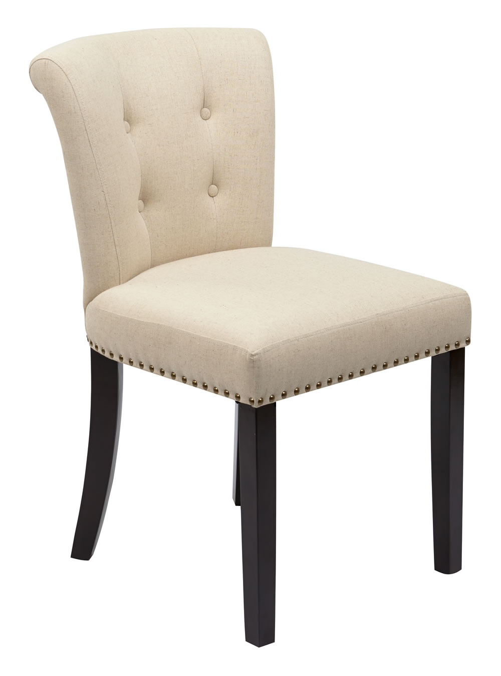 Ave six kendal fabric tufted back armless accent dining for Tufted dining chairs for sale