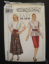 Simplicity 9148 Easy to Sew 1 or 2 pc Dress and Cummerbund 6 - 12 Kimono... - $3.00