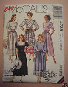 Easy McCall's 4738 Cut-To-Fit Dresses Misses 8-12 Petite-Able Fashion Basics McCall's