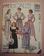 Easy McCall's 4738 Cut-To-Fit Dresses Misses 8-12 Petite-Able Fashion Ba... - $3.00