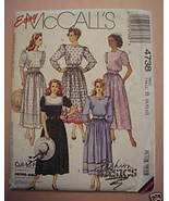 Easy McCall's 4738 Cut-To-Fit Dresses Misses 8-... - $3.00