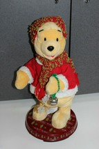 "Disney Gemmy Winnie the Pooh Animated Christmas Bear Sings lights moves 16"" - $39.95"