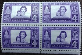 Four MNH 1960 U.S. Stamps The American Woman  - $1.49