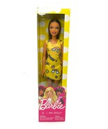 Mattel Barbie Doll Long Light Brown Hair Wearing Happy Yellow Dress with... - $18.81