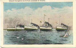 Ontario Navigation Fleet at Toronto Vintage Post Card - $6.00