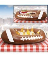 Inflatable Football Shaped Cooler Entertain Outdoor Ice Chests Party Pic... - $31.63
