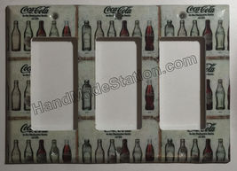 Coke Coca Cola Old bottles Light Switch Power Outlet Wall Cover Plate Home decor image 7