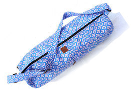 Blue Handmade Shoulder Bag Pure Cotton Indian Yoga Mat Carrier Cross Bod... - $26.99