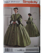 Pattern 2887 Civil War Reenactment Dress Multi Size 8-14 - $19.99