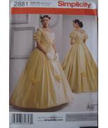 Pattern 2881 Civil War Reenactment Dress Multi Size 8-14 - $19.99